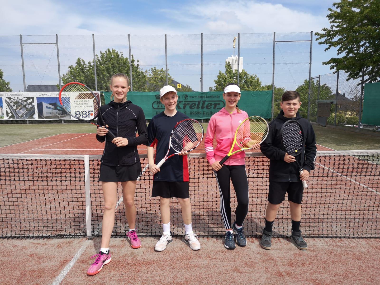 Tennis: U14 nach drei Spielen auf Rang 2